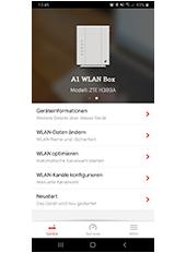 A1 WLAN Manager App - Startanalyse