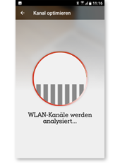 WLAN Manager App - Analyse des optimalen WLAN Kanals
