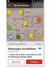 WLAN Manager App - Messung durchführen