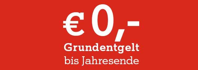 € 0.- bis Jahresende