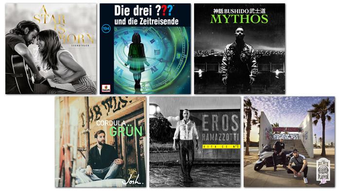 Verschiedene Musik Cover
