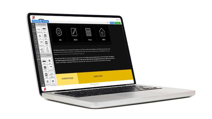 einfaches Drag & Drop Baukastensystem