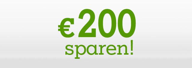 Bis zu € 200,- günstiger