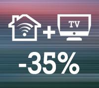 Internet 300 Mbit und TV 35% günstiger