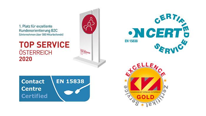 Logos der Auszeichnungen