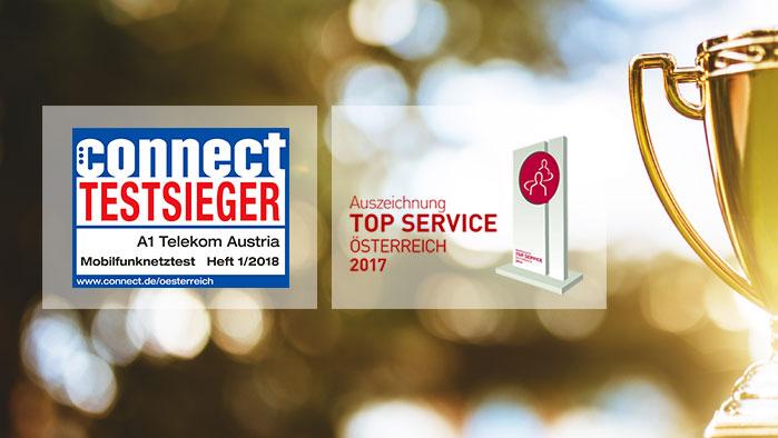 Auszeichnung Top Service und connect Testsieger