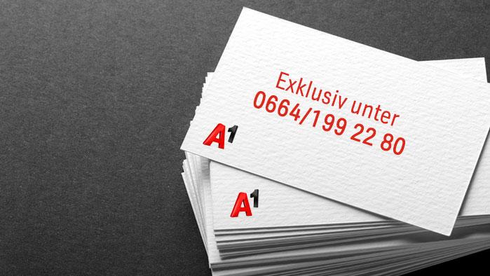 Visitenkartestapel mit Rufnummer 0664/1992280