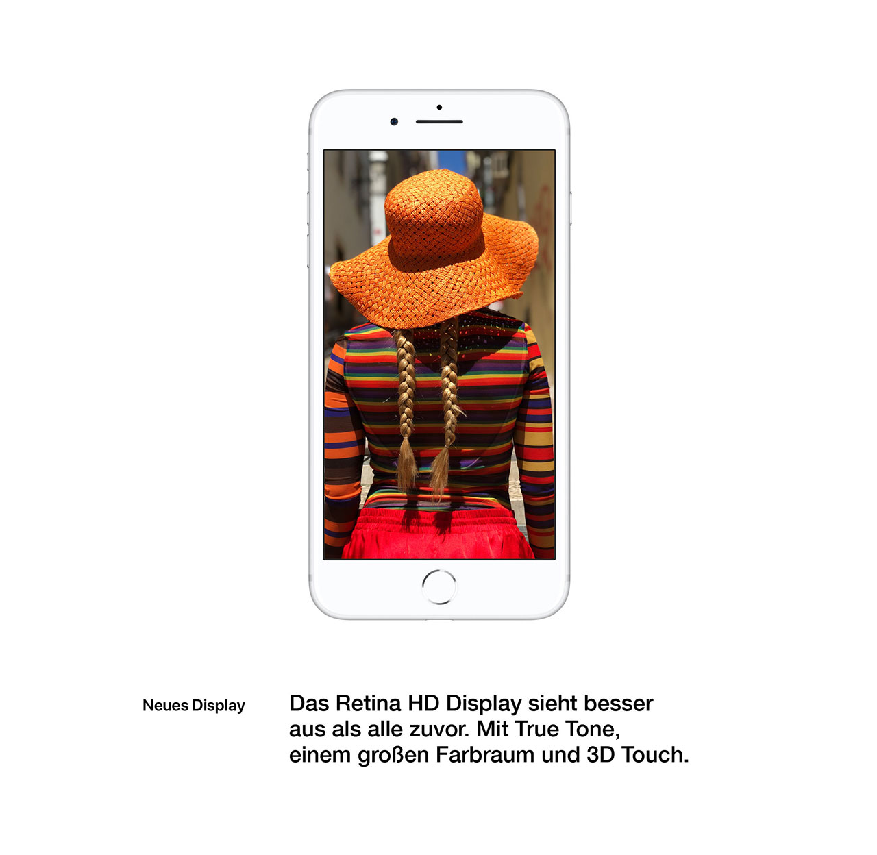 iPhone 8 Retina HD Display mit True Tone und 3D Touch