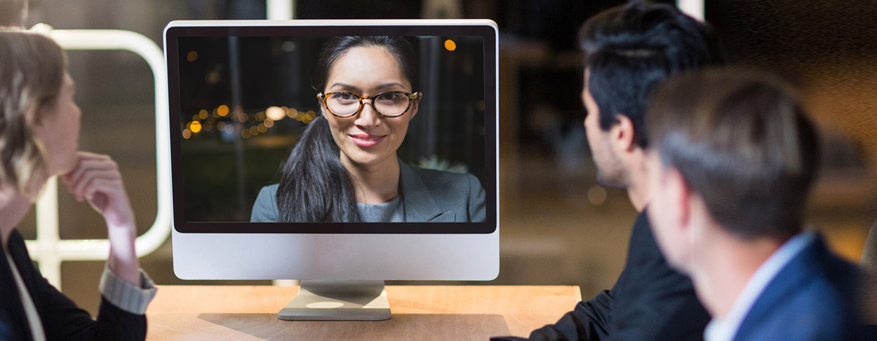Videokonferenz-Szene.