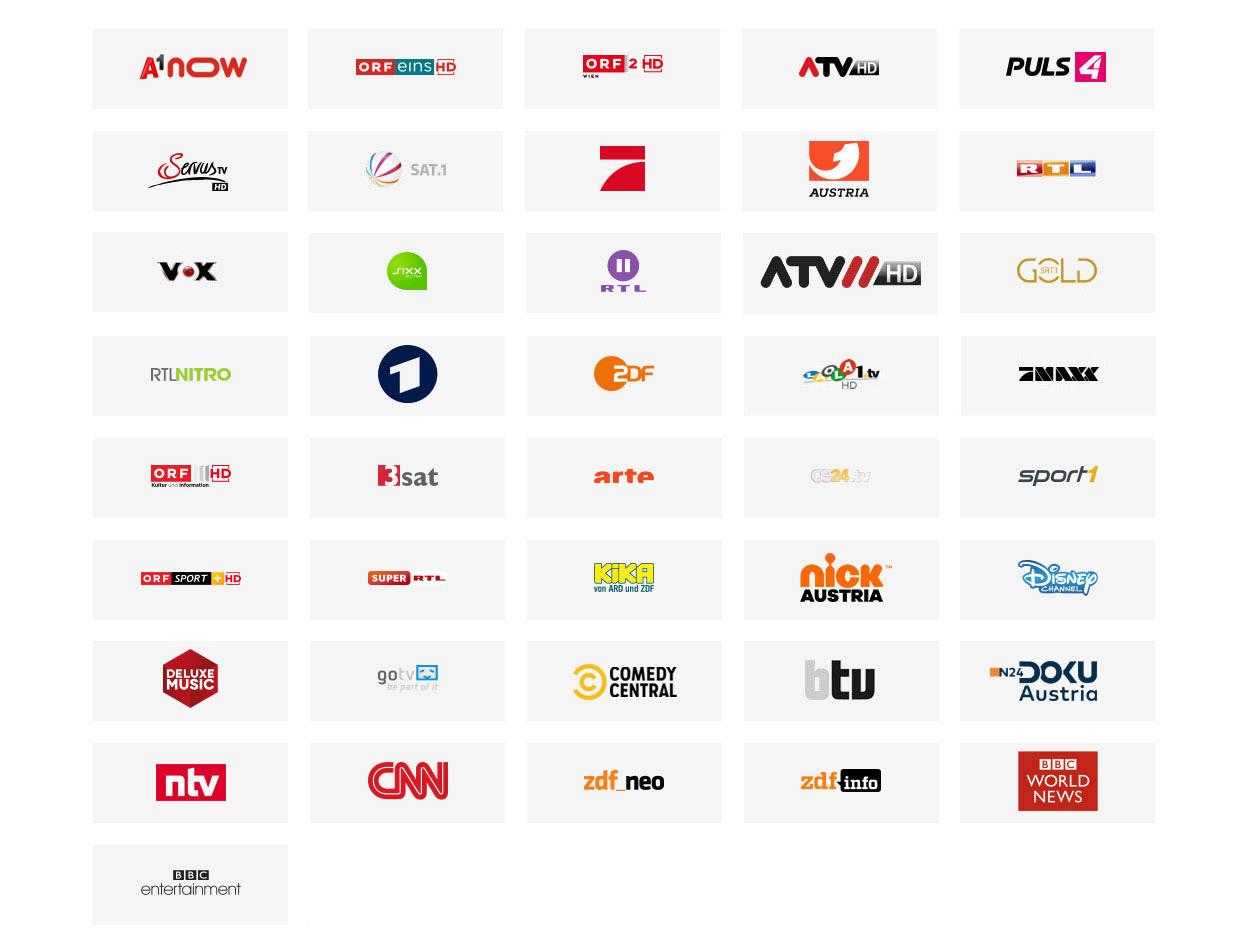 Online TV - A1 XPLORE TV Senderliste | A1.net