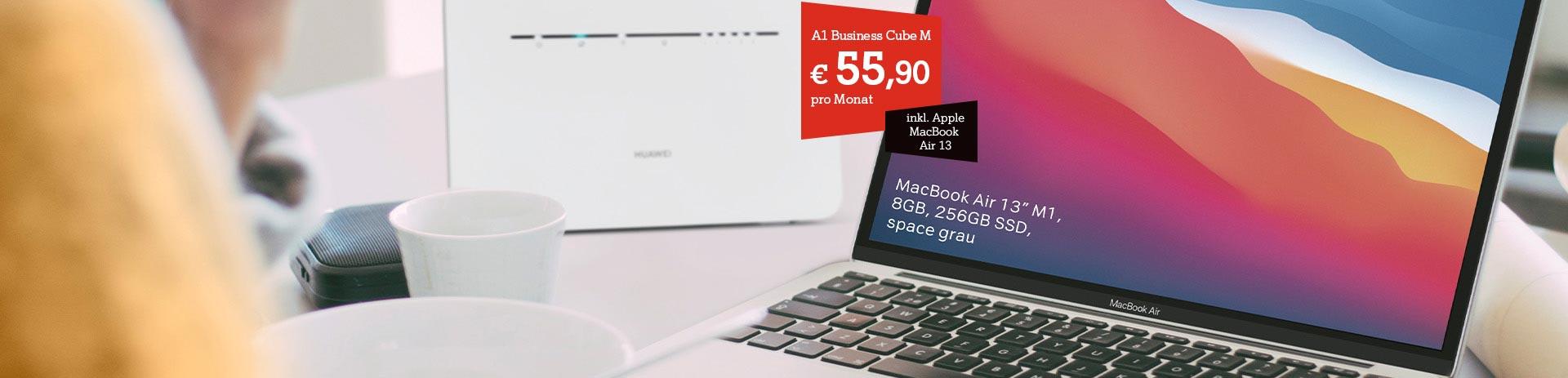 A1 Business Cube & MacBook Air 13