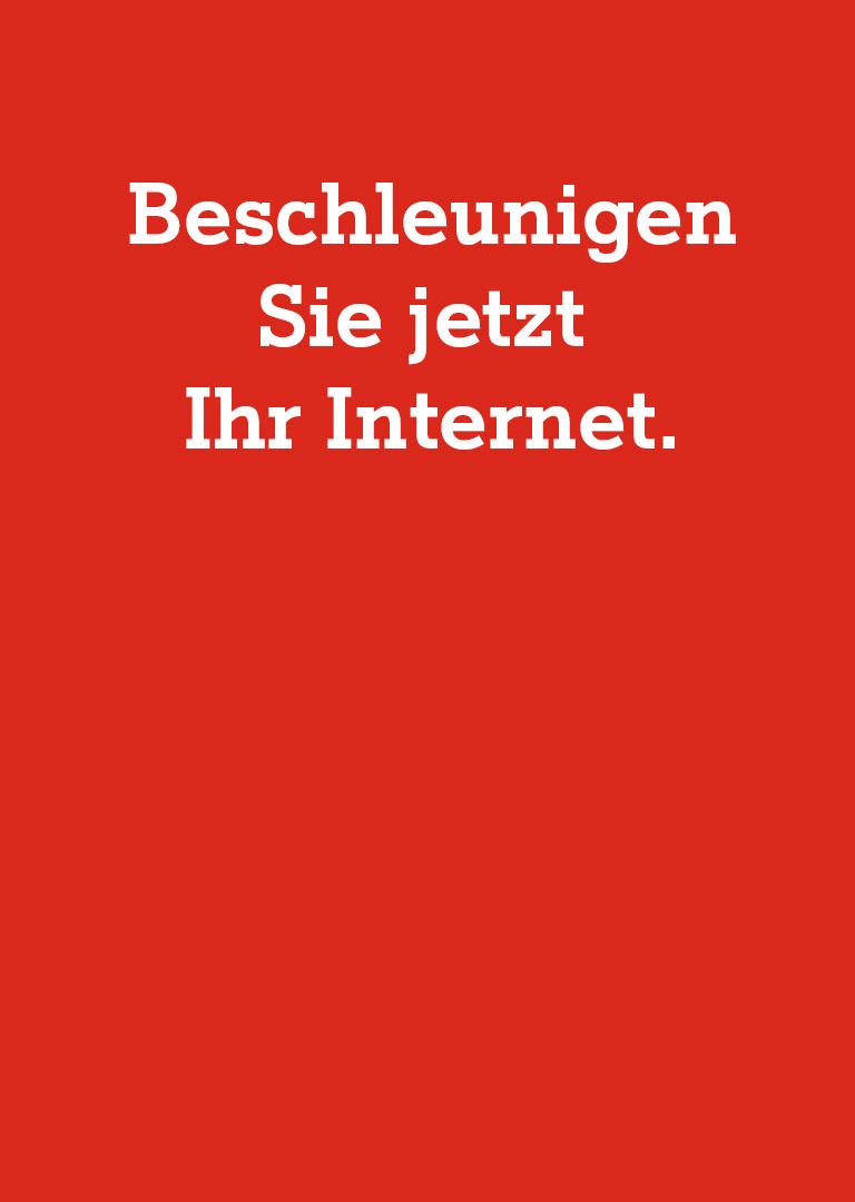 Beschleunigen Sie Ihr Internet