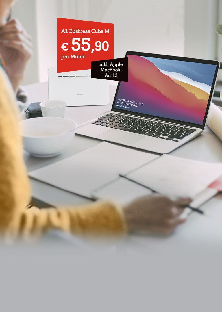 A1 Business Netcube + MacBook Air 13