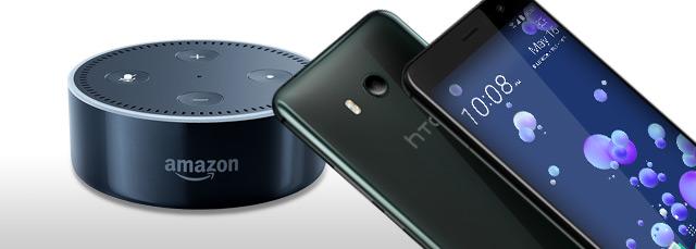 HTC U11 mit Amacon Echo dot