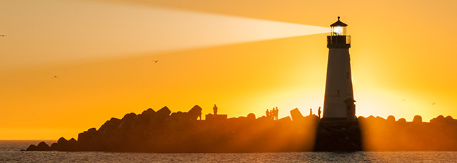 Leuchtturm Sonnenuntergang