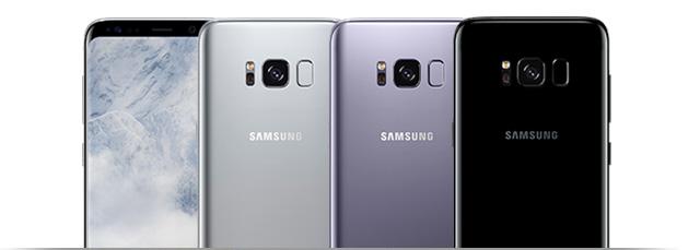 Samsung Galaxy S8 in verschiedenen Farbvariationen