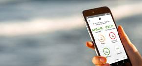 Smartphone mit abgebildeter Mein A1 App
