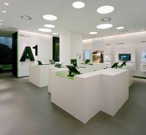 Blick in einen A1 Shop