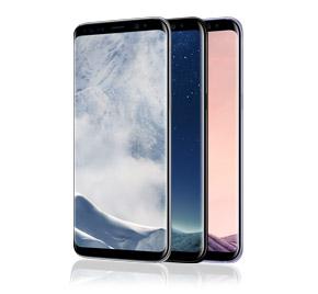 Samsung Galaxy S8 in verschiedenen Farbvarianten