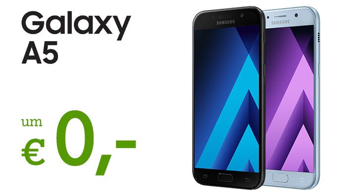 Nur für kurze Zeit: Das Galaxy A5 2017 um € 0,- im A1 Go! Xcite