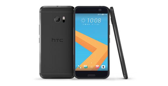 HTC 10 schwarz in mehreren Perspektiven