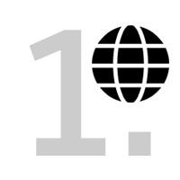 abstrakte Darstellung einer Weltkugel mit der Ziffer 1 im Hintergrund