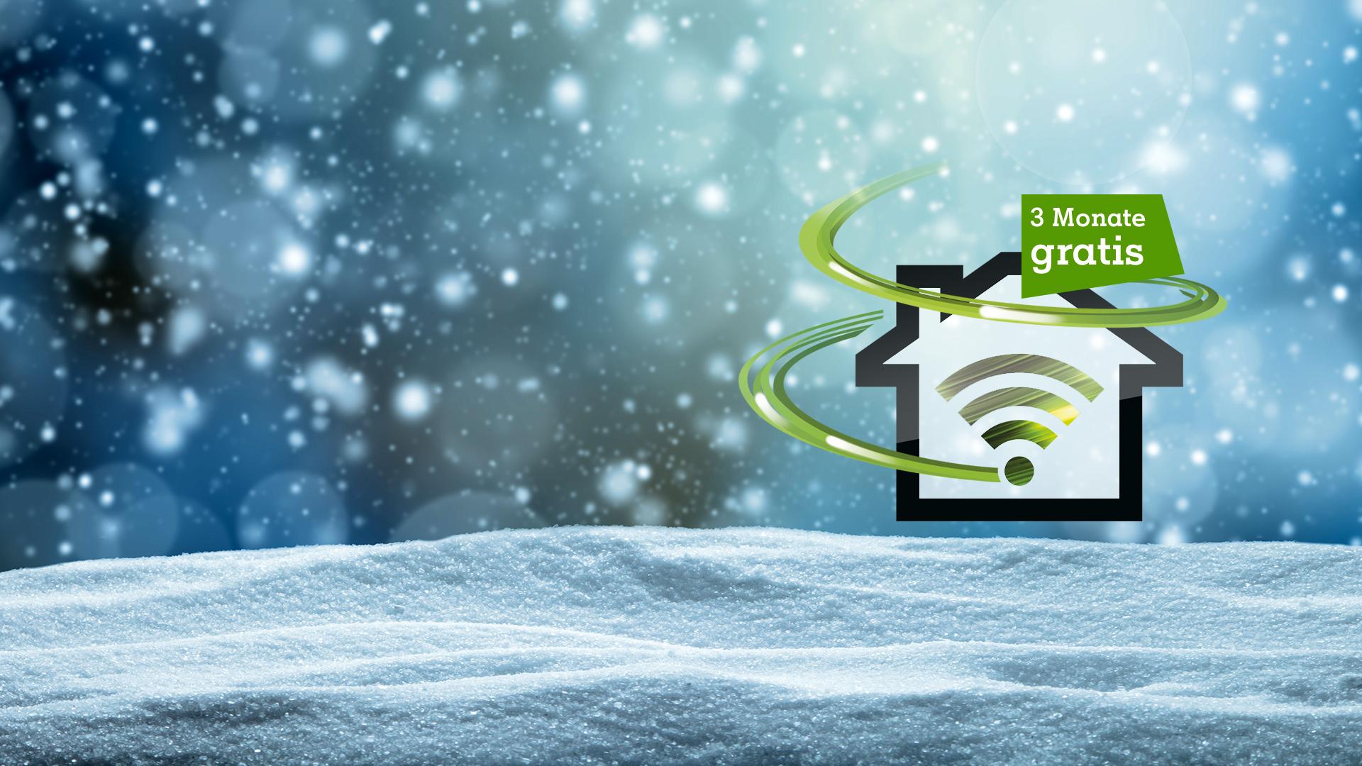 Logo Internet Power auf Schnee