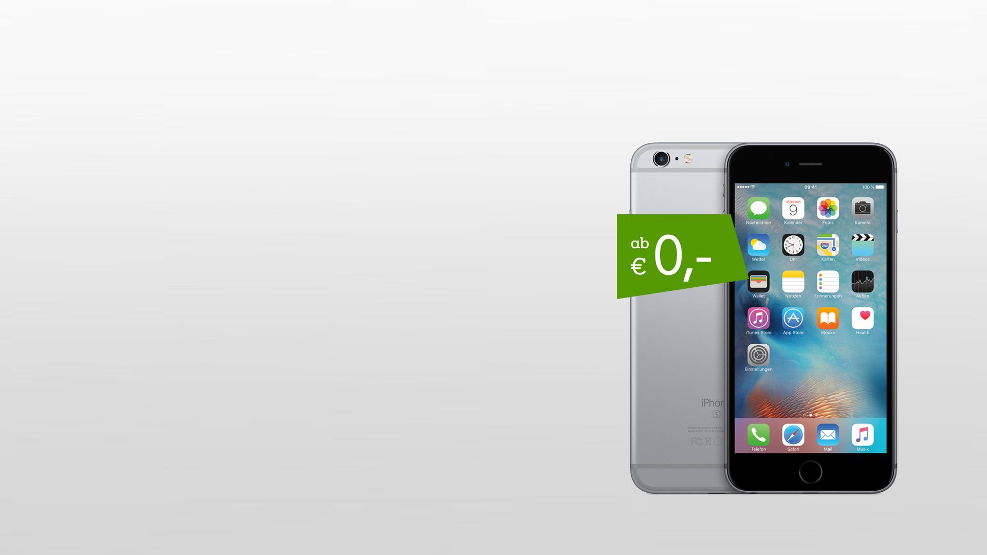iPhone 6s Vorder- & Rückseite mit Störer ab € 0,-